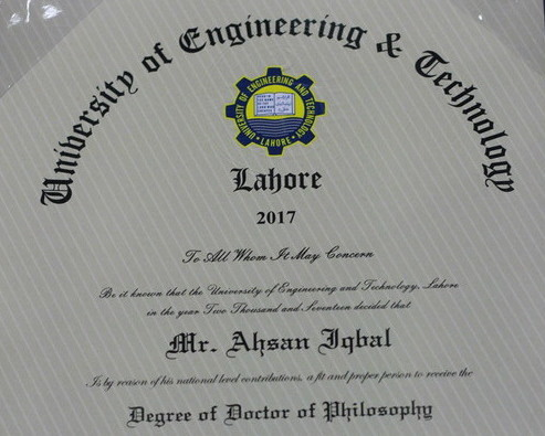 ahsan iqbal phd